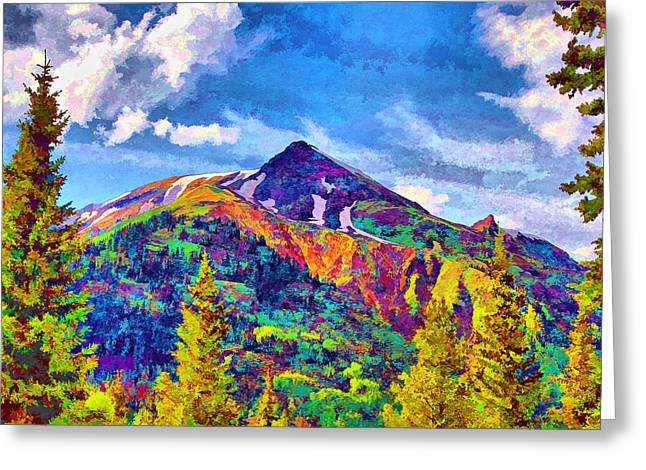 Greeting Card featuring the digital art High Country Pyramid by Brian Davis