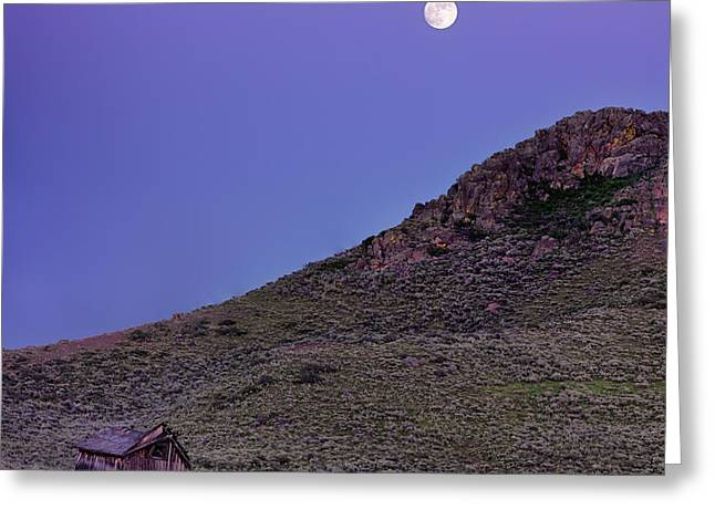 High Desert Moonrise Greeting Card