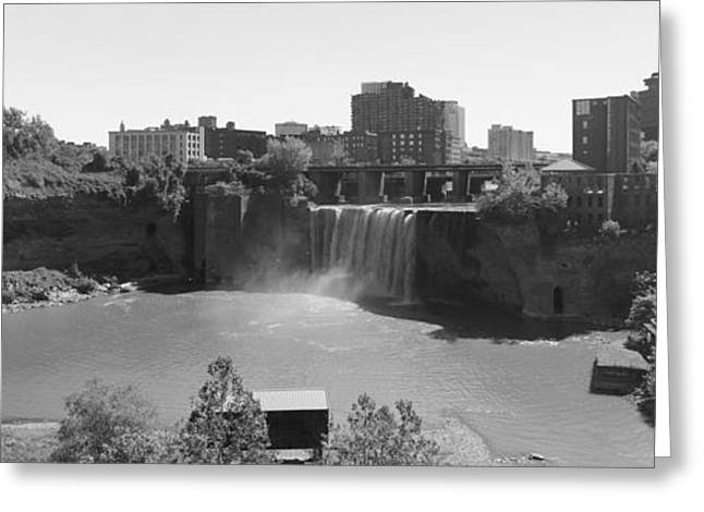 High Falls In Rochester New York Greeting Card by Matthew Green