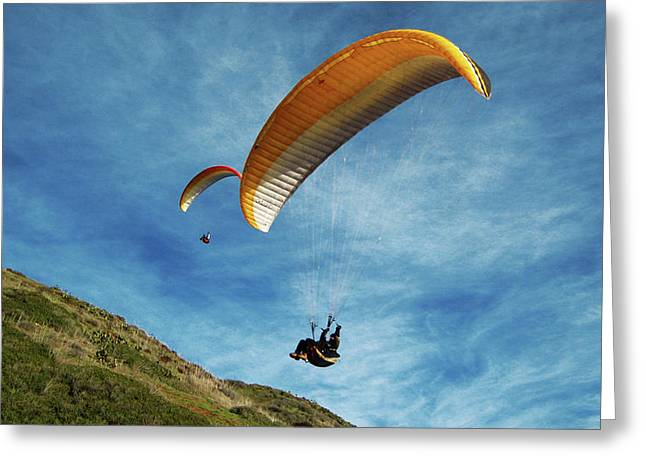 Greeting Card featuring the photograph High Flyers by Lorraine Devon Wilke