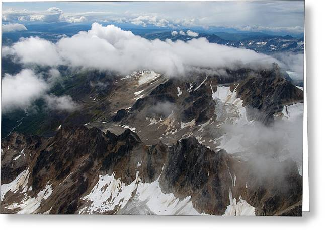 High In The Alaska Range Greeting Card by George Hawkins