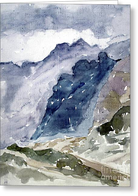 High Mountains Greeting Card by Dariusz Gudowicz