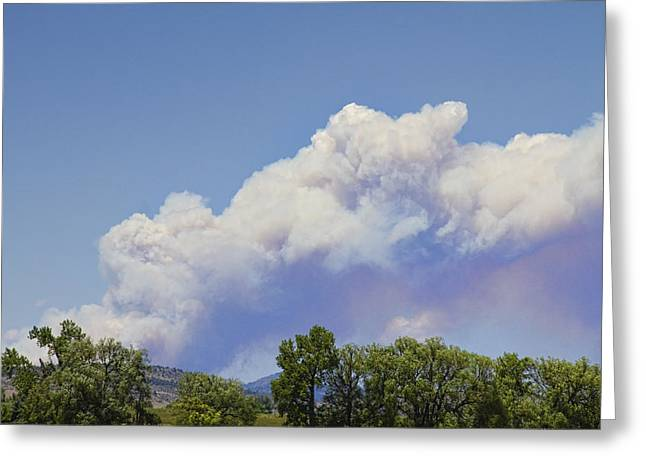 High Park Fire Larimer County Colorado  Greeting Card