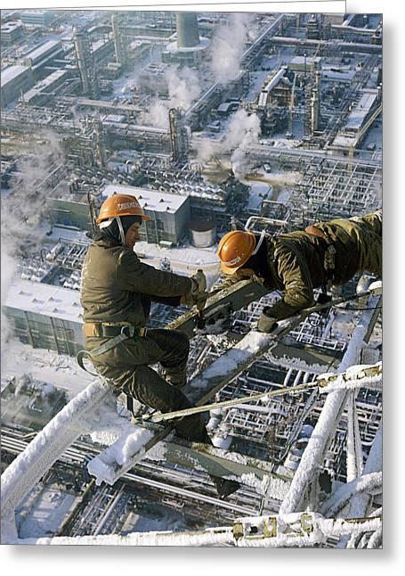 High-rise Construction Work Greeting Card by Ria Novosti