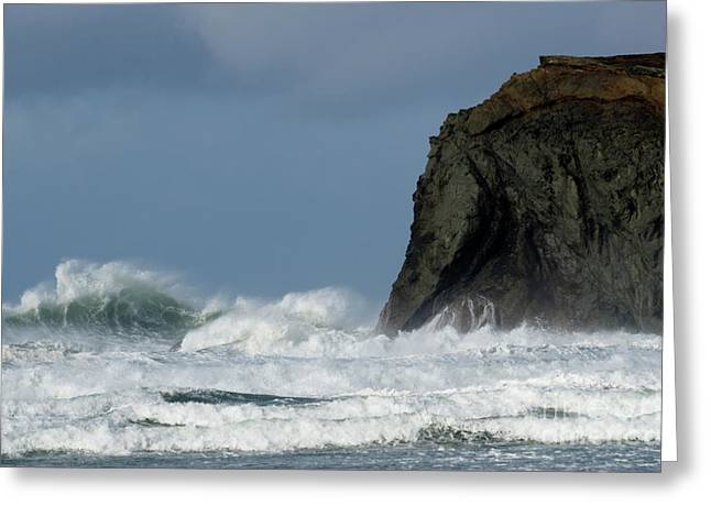 High Surf Greeting Card by Bob Christopher