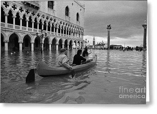 High Water In San Marco Greeting Card by Aldo Cervato