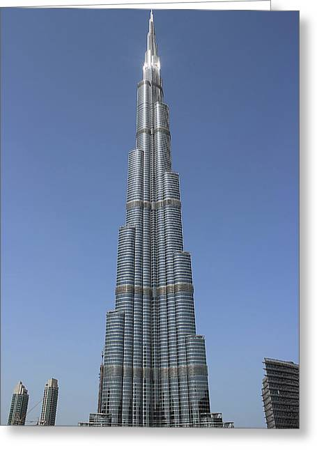 Highest Building In The World Greeting Card by Radoslav Nedelchev