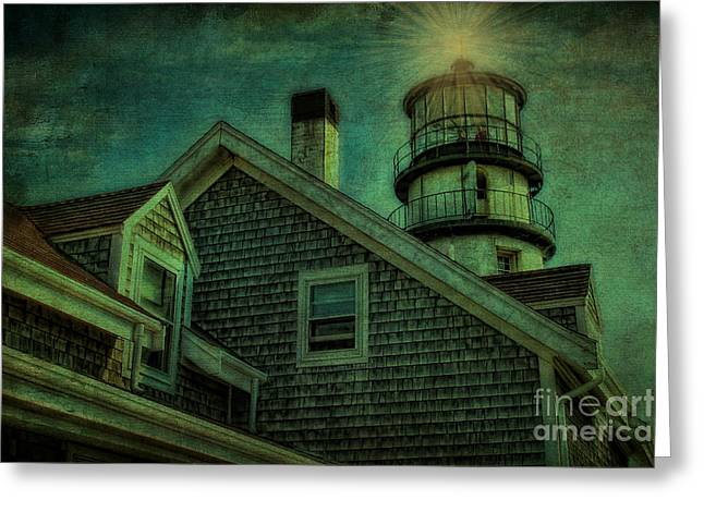 Greeting Card featuring the photograph Highland Lighthouse by Gina Cormier