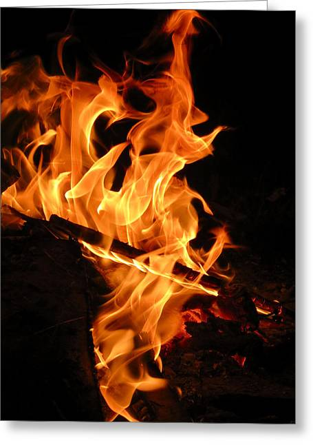 Highly Defined Flame Greeting Card