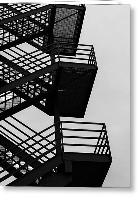 Highrise Escape Greeting Card by Steven Milner