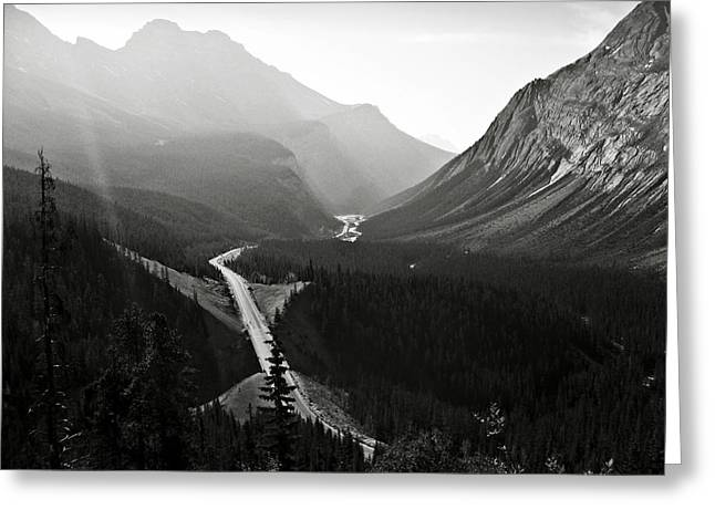 Highway 93a Greeting Card