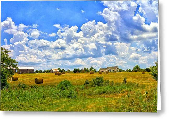 Highway D New Melle Mo Greeting Card by Linda Tiepelman