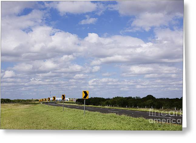 Highway In Northern Mexico Greeting Card by Jeremy Woodhouse