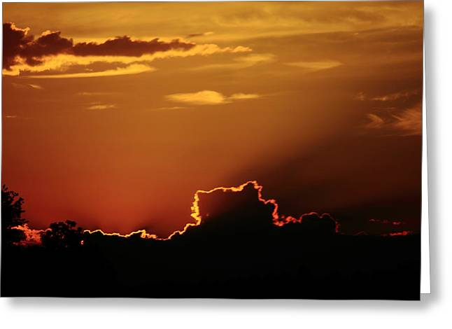 Highway Sunrise Greeting Card by Tanya Chesnell