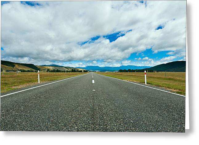 Highway Through The Countryside  Greeting Card by Ulrich Schade