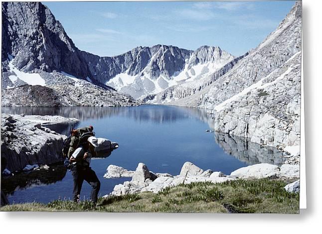 Hiking The High Sierra Greeting Card