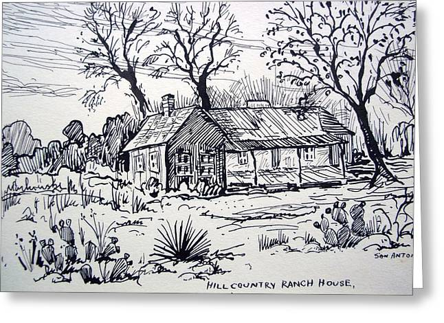 Hill Country Ranch House Greeting Card by Bill Joseph  Markowski