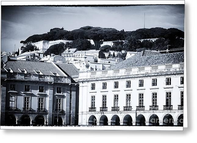 Hills Of Lisbon Greeting Card by John Rizzuto