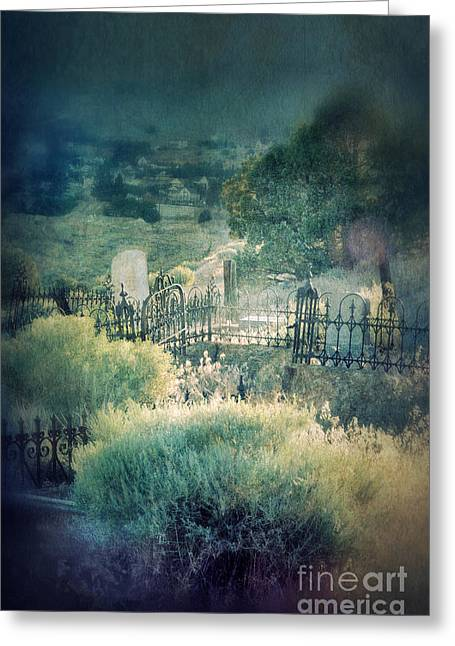 Hillside Graveyard Greeting Card