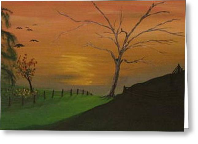 Hillside Greeting Card by Shadrach Ensor