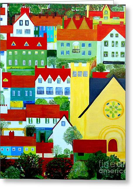 Hillside Village Greeting Card