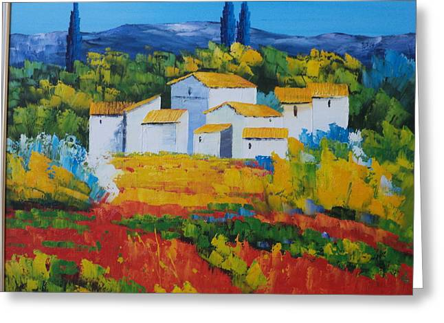 Hilltop Village Greeting Card