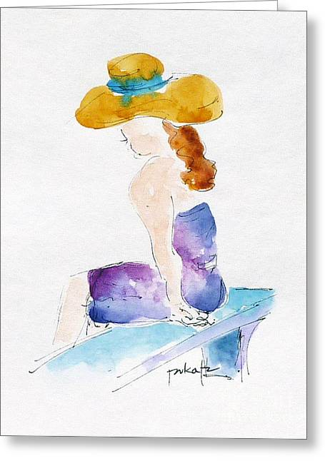 Hilo Hattie Fashionista Greeting Card by Pat Katz