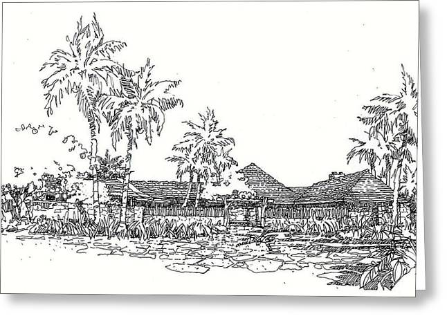 Hilo House Greeting Card by Andrew Drozdowicz