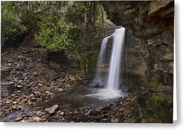 Hilton Falls Greeting Card by Robin Webster