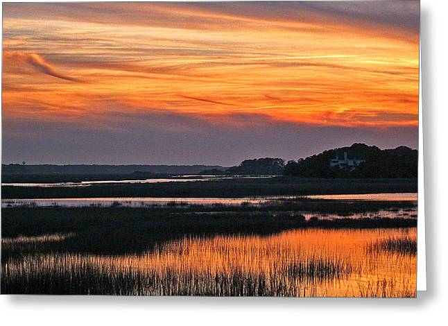 Hilton Head Sunset Greeting Card