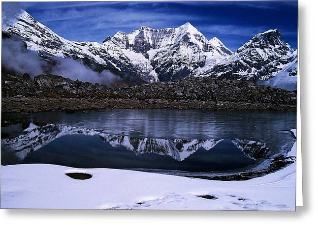 Himalayas Greeting Card by Greg Palmer