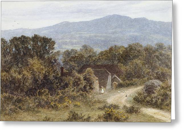 Hindhead From Sandhills Witley Greeting Card by Helen Allingham