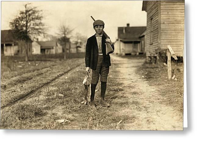 Hine: Hunter, 1908 Greeting Card