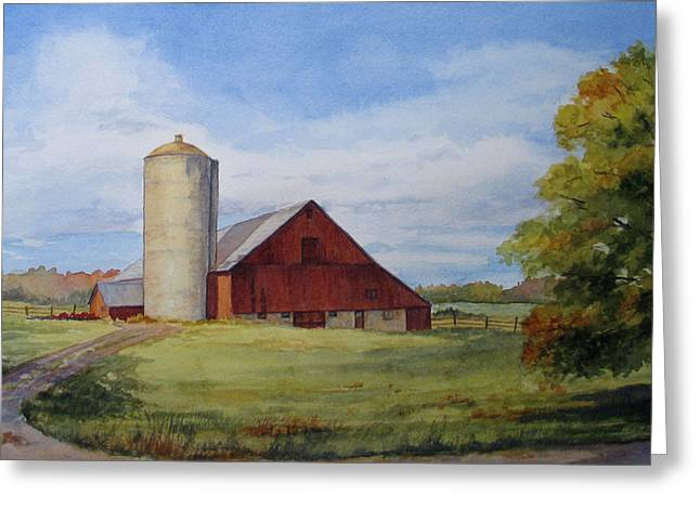Greeting Card featuring the painting Hint Of Autumn by Vikki Bouffard