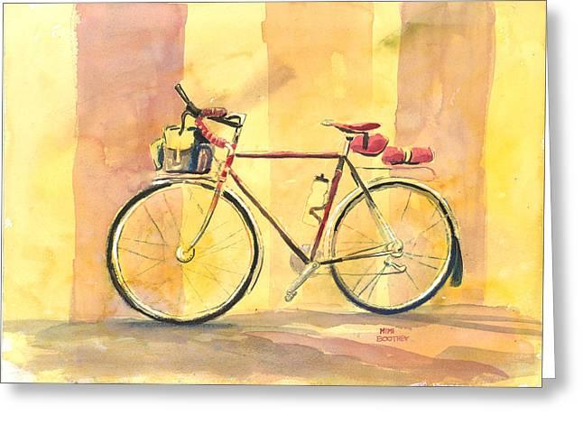 His Bike Remembered Greeting Card