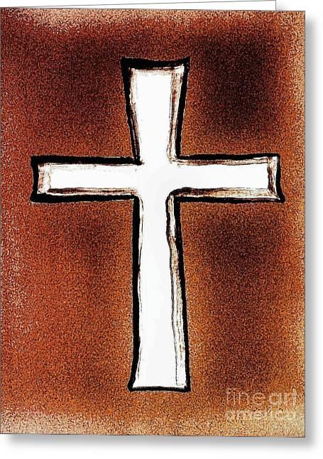 His Cross Greeting Card