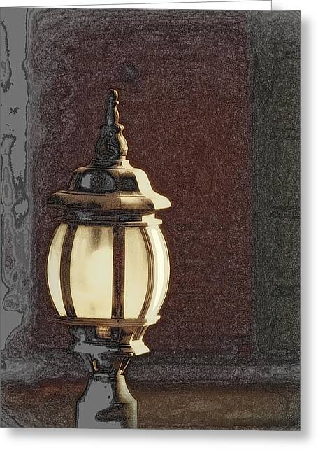His Guiding Light Greeting Card by Cindy Wright