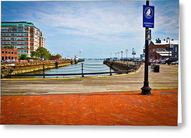 Historic Boston Boardwalk Greeting Card by Erica McLellan