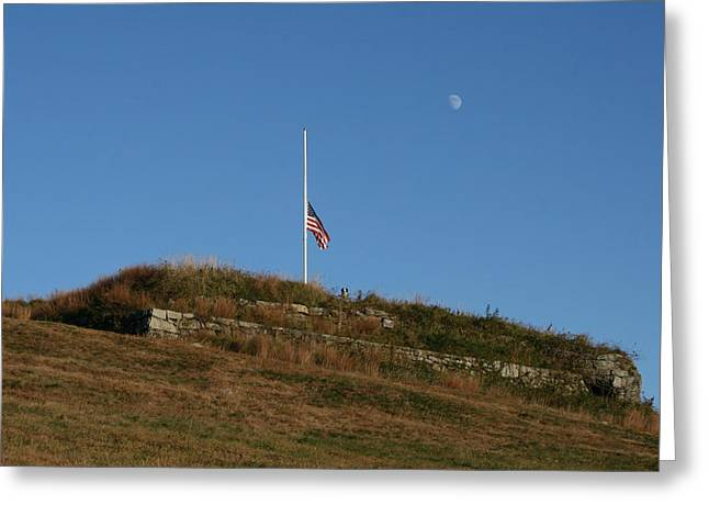 Historic Climb Greeting Card by Neal Eslinger