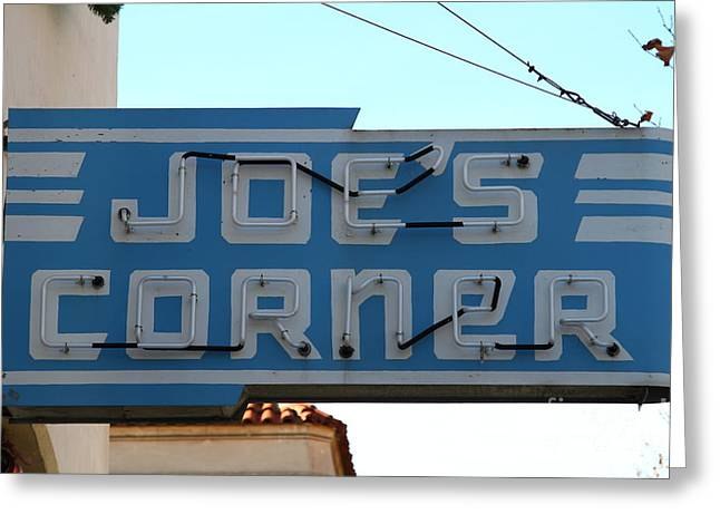 Historic Niles District In California Near Fremont . Joes Corner . 7d10714 Greeting Card by Wingsdomain Art and Photography
