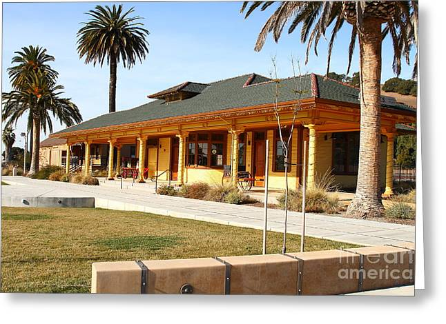 Historic Niles District In California Near Fremont . Niles Depot Museum And Niles Town Plaza.7d10717 Greeting Card