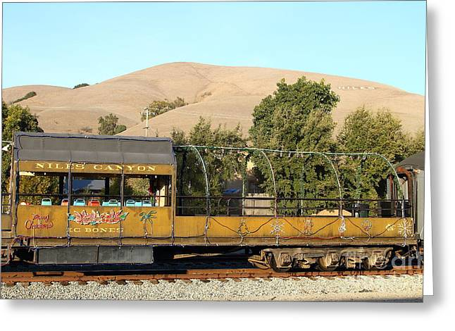 Historic Niles Trains In California . Old Niles Canyon Train . 7d10845 Greeting Card by Wingsdomain Art and Photography