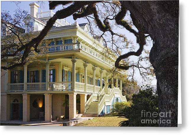 Historic Plantation Manor Home Greeting Card by Jeremy Woodhouse