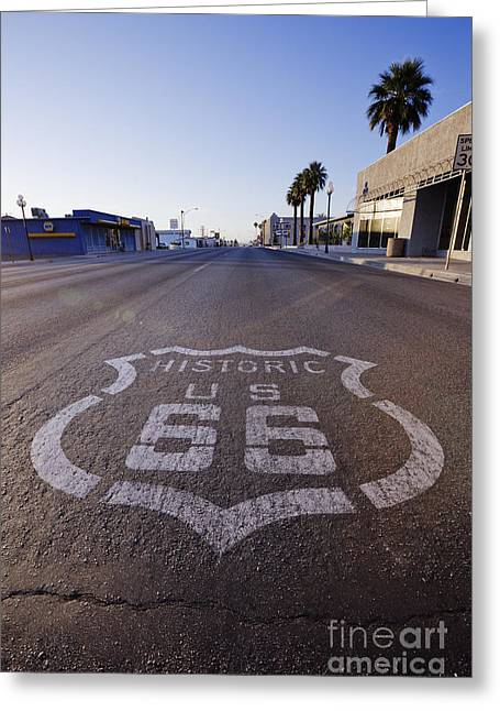 Historic Route 66 At Needles Greeting Card