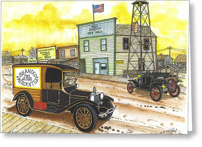 Historic Shaniko Oregon Greeting Card by Bill Friday