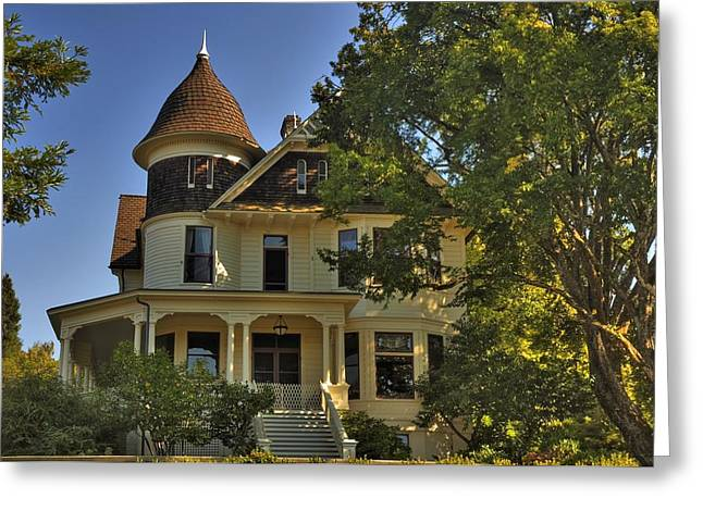 Historic Victorian House Greeting Card by Tyra  OBryant