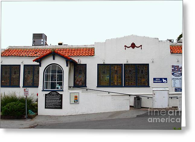 Historical Moss Beach Distillery At Half Moon Bay . 7d8172 Greeting Card by Wingsdomain Art and Photography