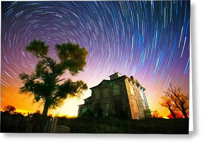 History Of The Universe Greeting Card by Evan Ludes
