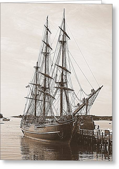 Hms Bounty Greeting Card by Doug Mills