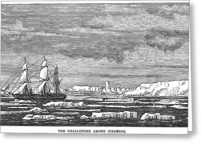 Hms Challenger, 1874 Greeting Card by Granger